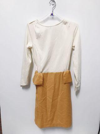 🚚 棉質拼接洋裝-全新