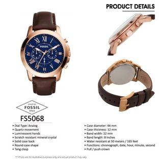 🚚 🎆SUPER OFFER🎆100% Authentic Fossil Watch with 2 Years Fossil Warranty