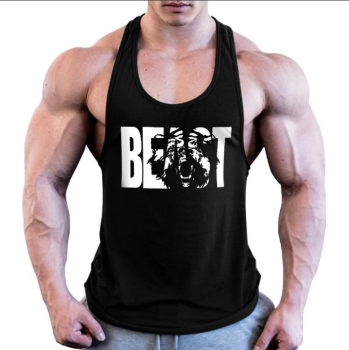 男士運動健身純棉無袖背心【吸汗排汗吊嘎,透氣,高品質】【BEAST】