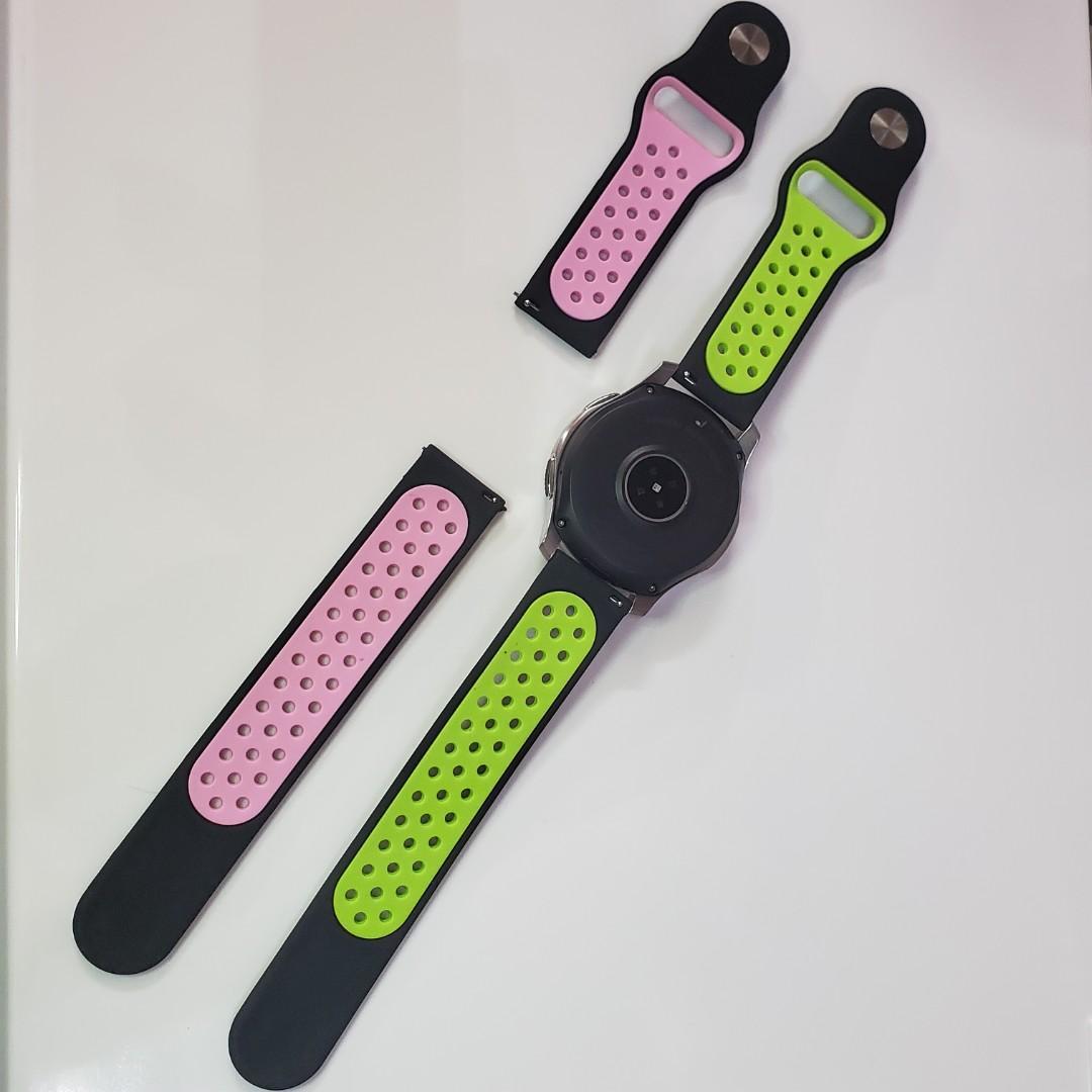 代用 22mm 錶帶 band For Samsung Galaxy Watch 46mm SM-R800 & SM-R805 Gear S3 frontier SM-R760