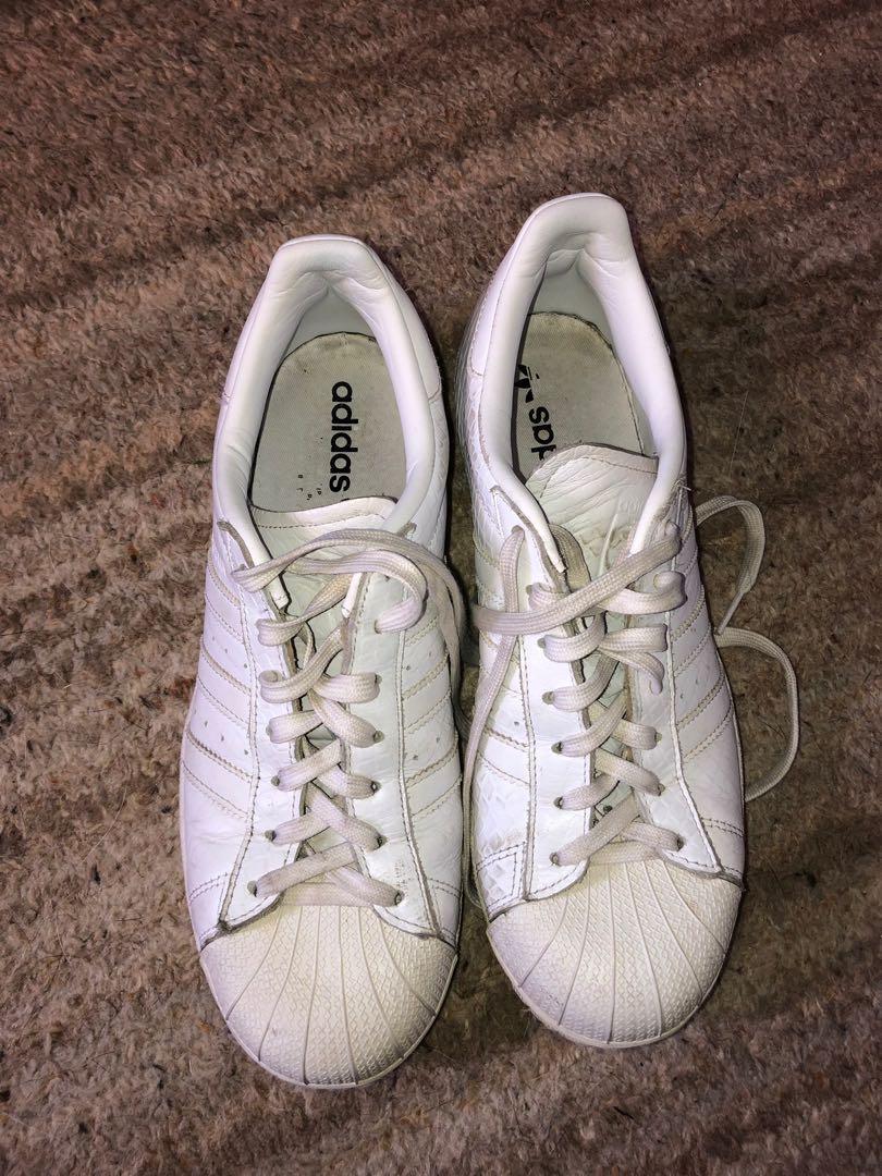 ADIDAS Original Superstar Foundation All White Shoes