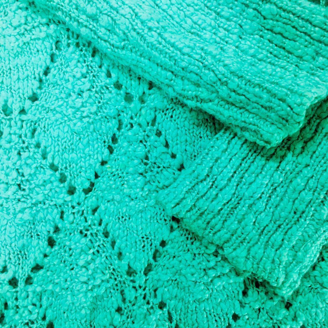 Adolfo Dominguez aqua marine oversize knit size M-XL
