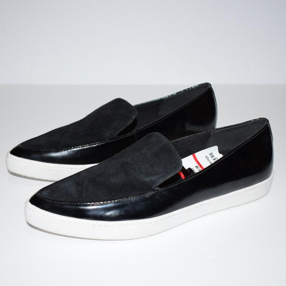 Aldo Trezzo Pointy Toe Sneakers Black Suede Size 6.5