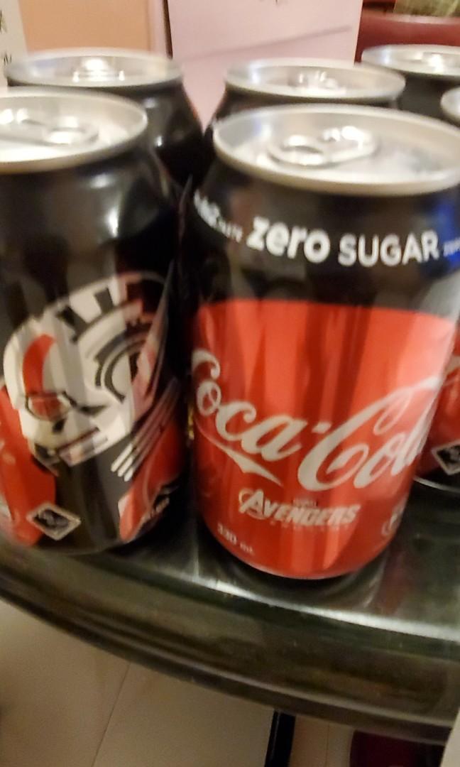 Avengers Marvel Coca Cola 限量Zero 可樂 Iron Man Ant Man Black Widow Hulk