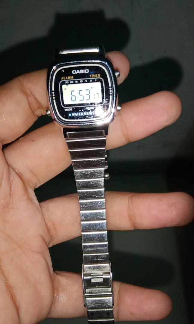 #bapau jam tangan casio rantai LAG70W