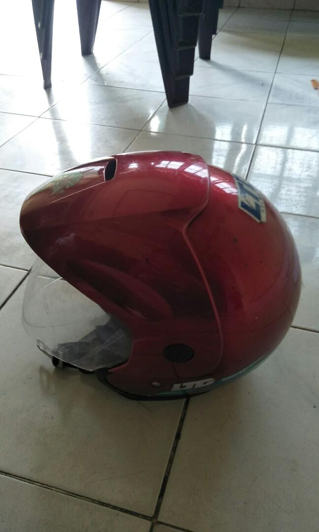 #BAPAU helm LTD merah