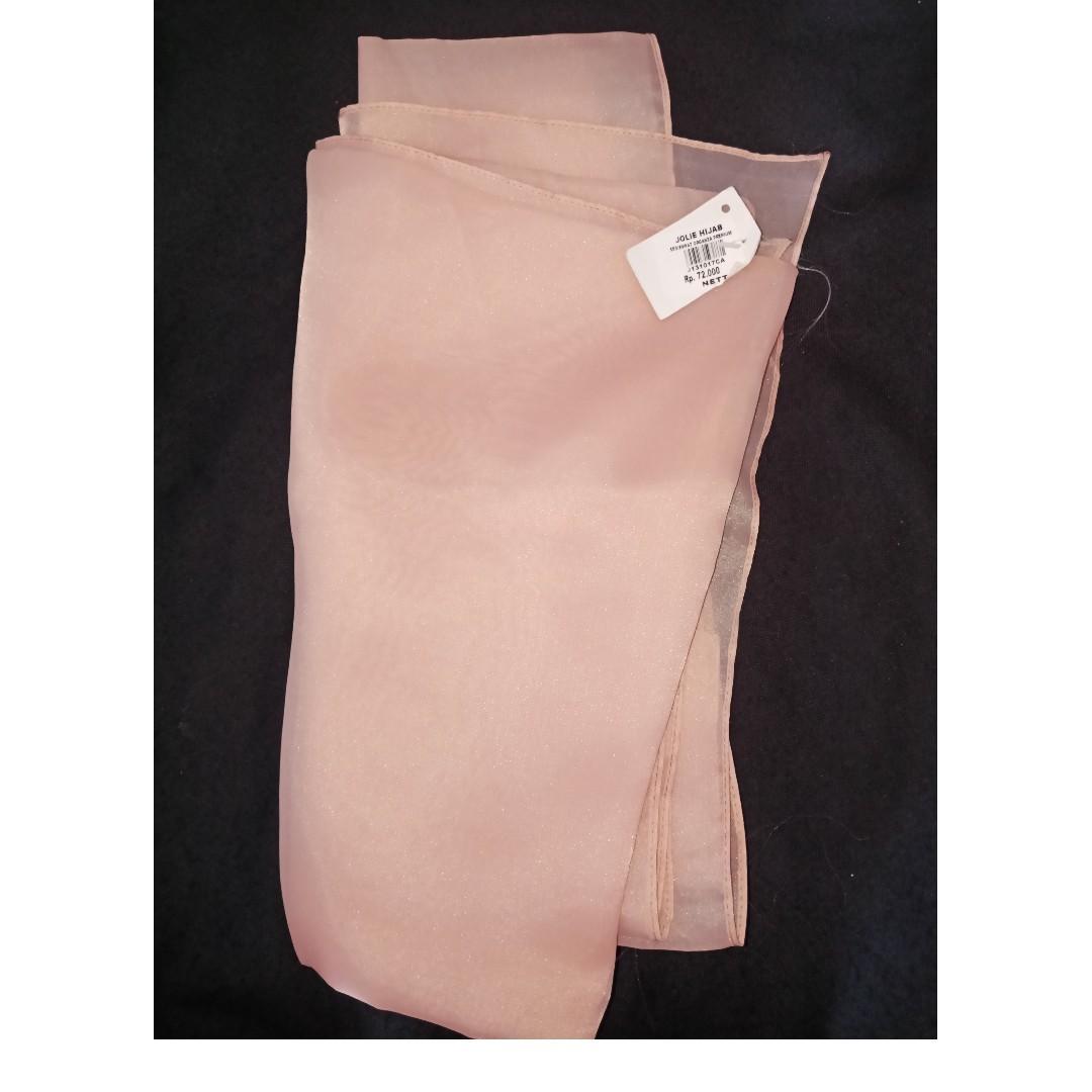 #BAPAU jilbab organza pink salem