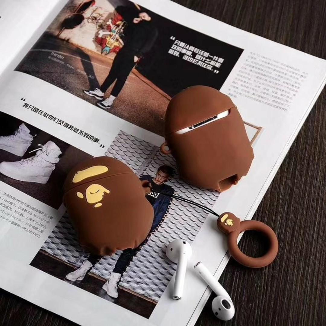 Bathing Ape Bape Aape Air Pods Ear Pods Holder Cover Sleeve