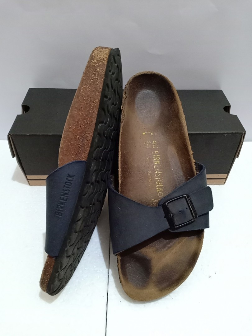 Birkenstock Madrid Navy Leather Sandals