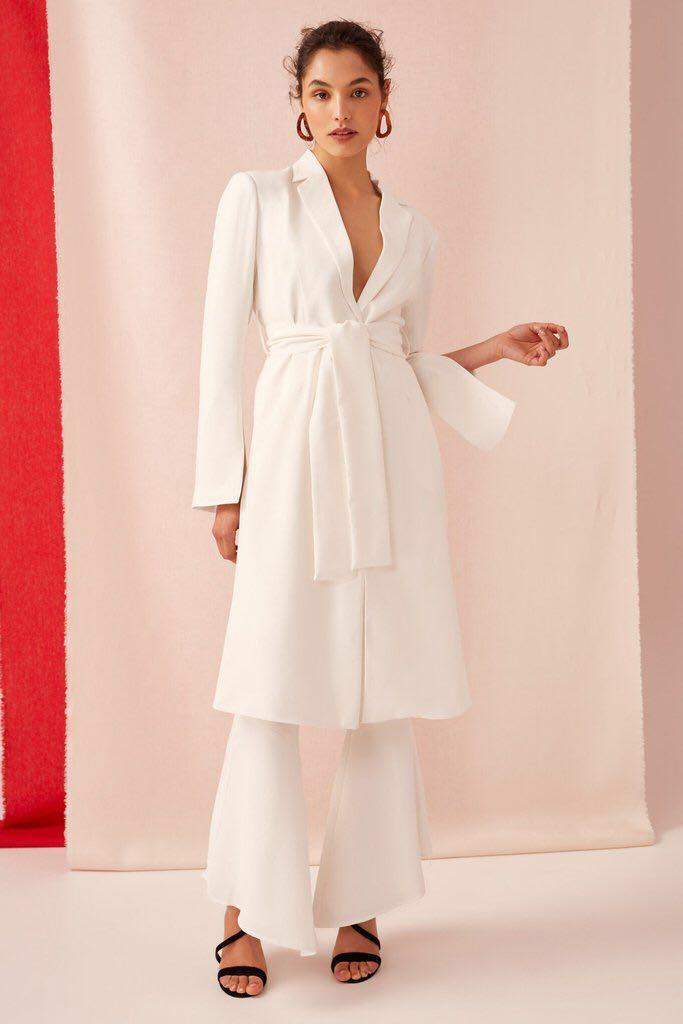 BNWT keepsake the label Darkest light ivory white blazer coat