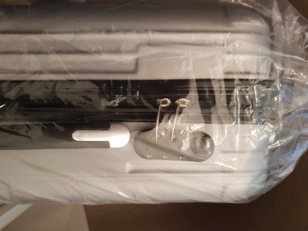 """Brand new 20"""" silver cabin luggage (plastic wrap in box)"""