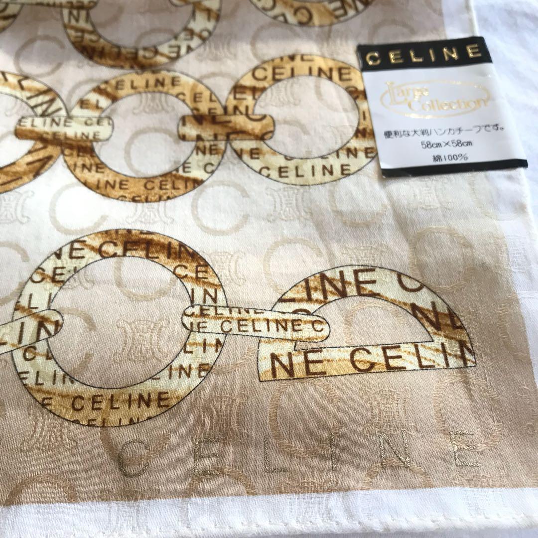 Celine vintage classic celine logo scarf/ headscarf/ hanky (brand new)