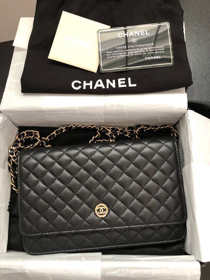 b25204f54ad3 Chanel limited edition wallet on chain WOC in Lambskin leather ...
