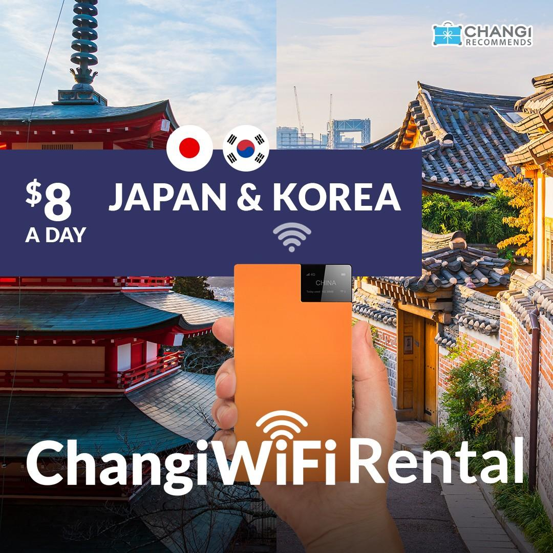 ChangiWiFi Rental - Japan and Korea Package *Unlimited Data