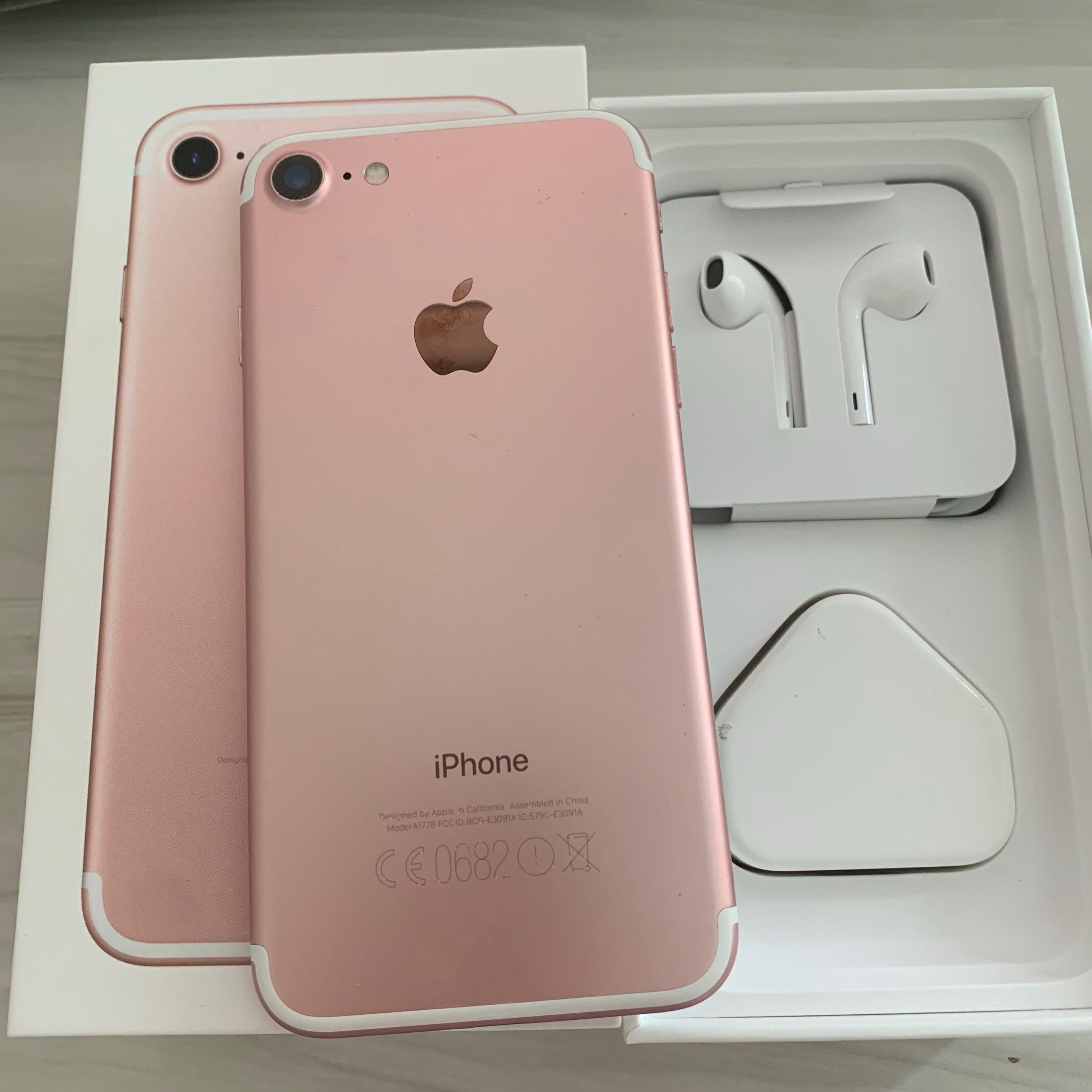 Cheapest **full set Iphone 7 Rose Gold 128gb