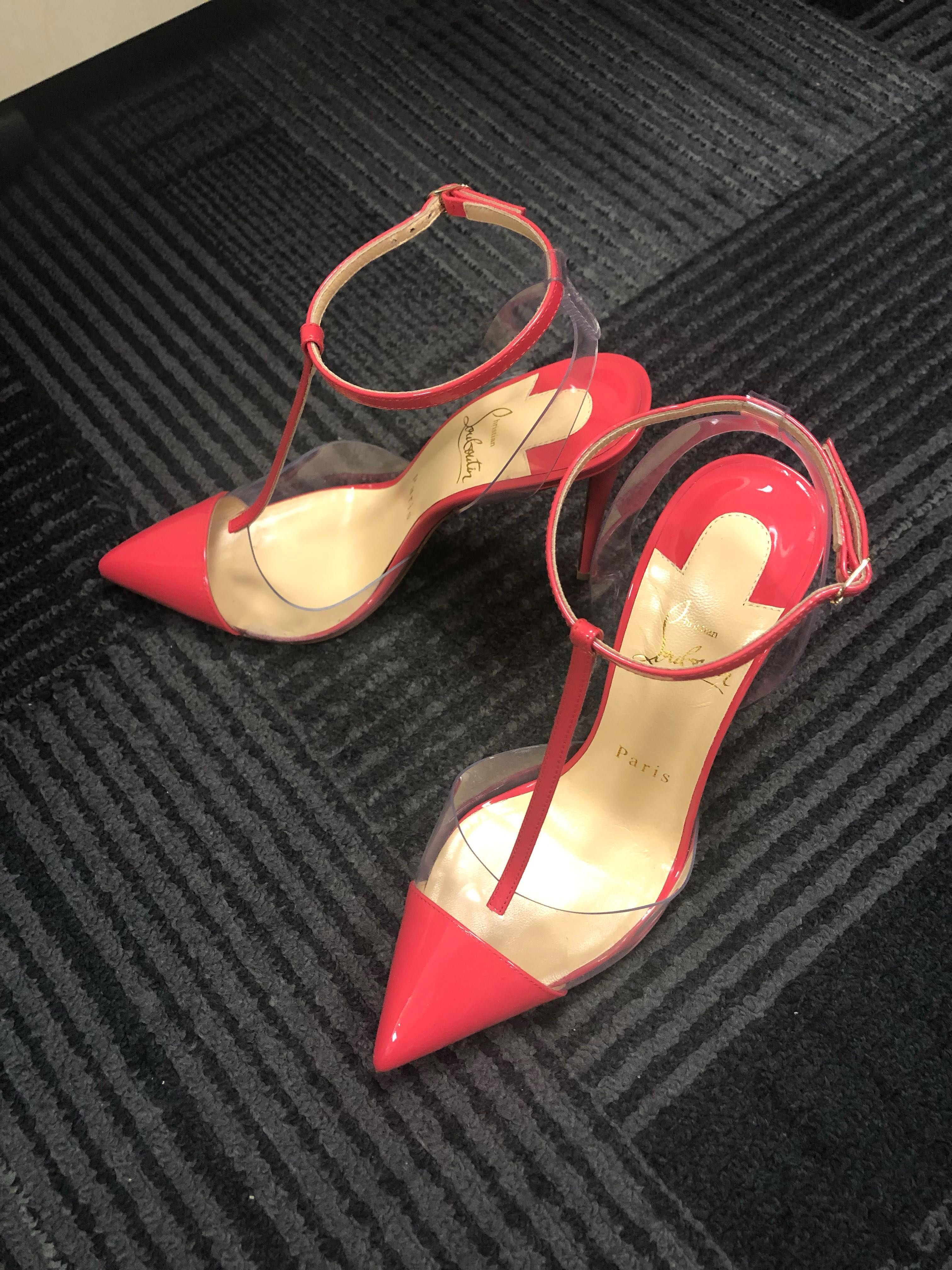 best cheap 03924 f900a Christian Louboutin shocking pink heels