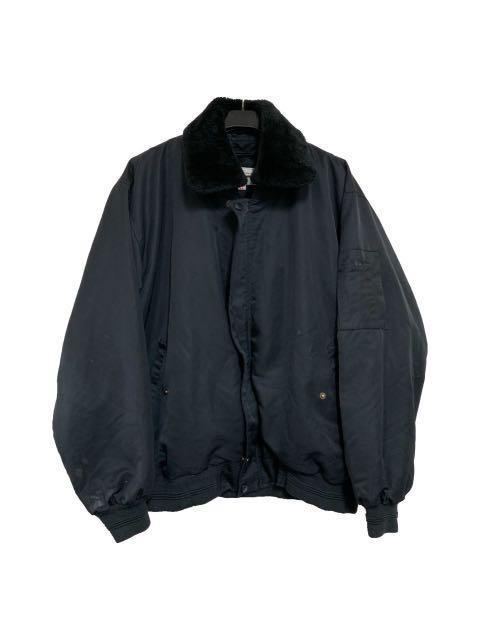 古著黑色鋪毛飛行外套(平量尺寸cm)