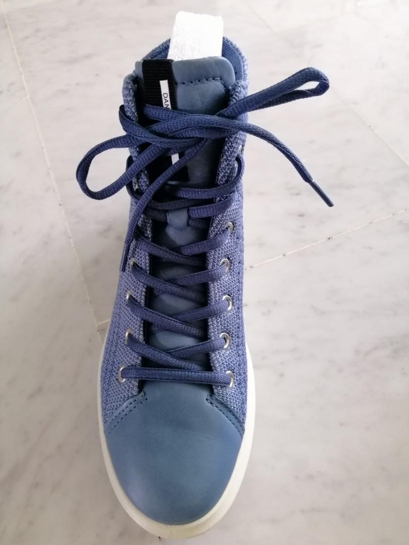 Ecco retro blue boots