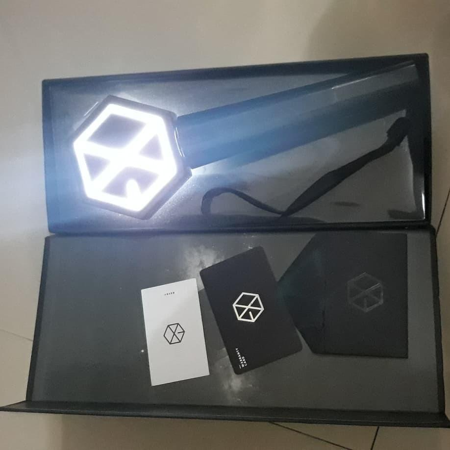 EXO OFFICIAL LIGHTSTICK VERSI 1 BLACK