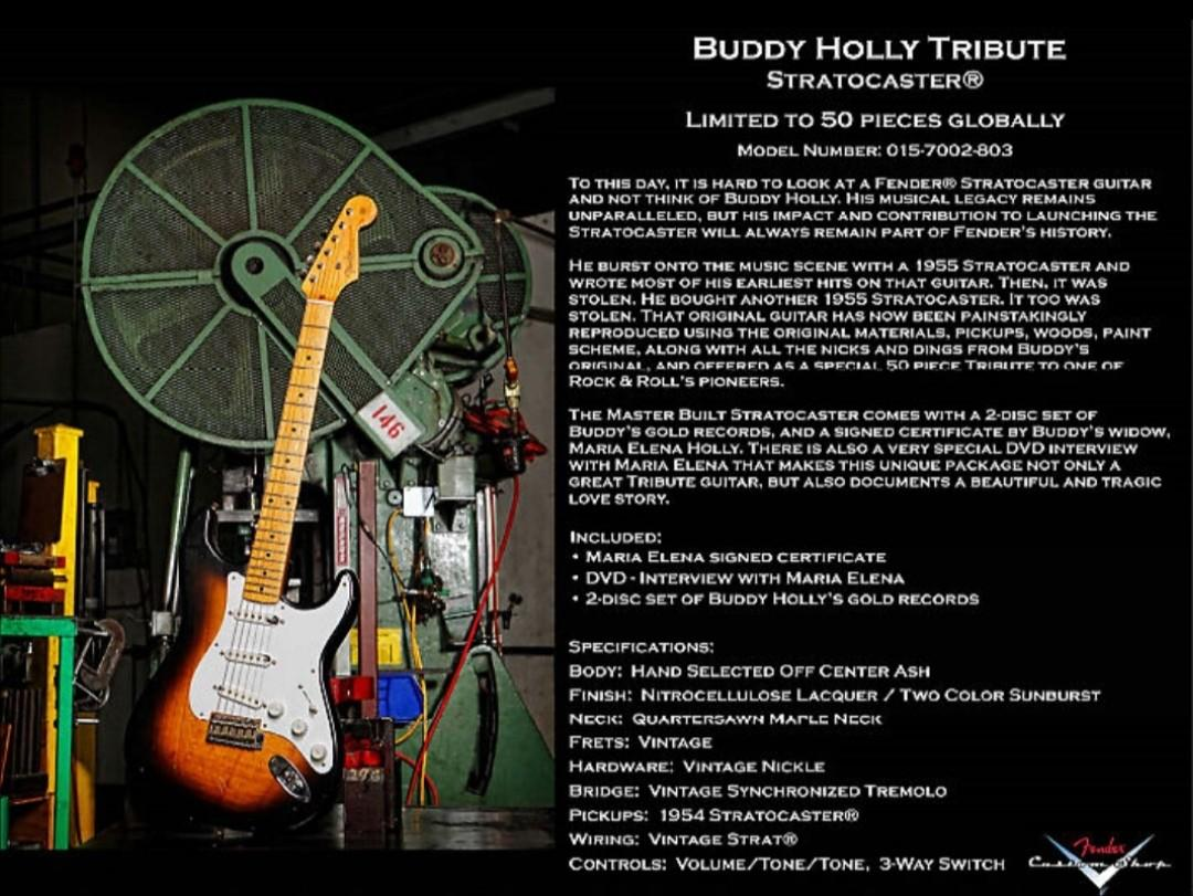 Fender Stratocaster custom shop buddy holly tribute relic 1 of 50