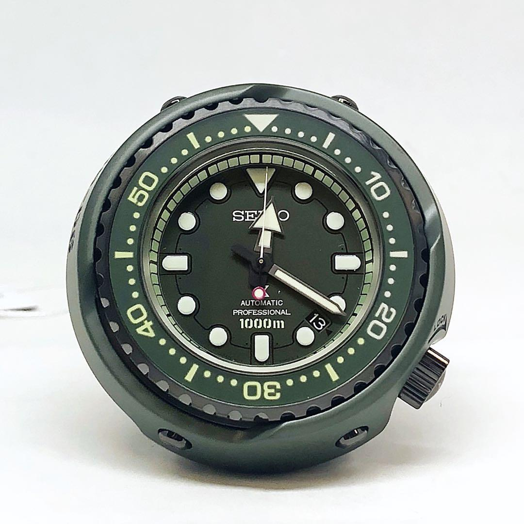 FS.BNIB SEIKO EMPEROR TUNA MARINEMASTER PROSPEX ZAKU II GUNDAM 40TH ANNIVERSARY LIMITED EDITION GREEN CERAMIC 52MM WATCH SLA029J1