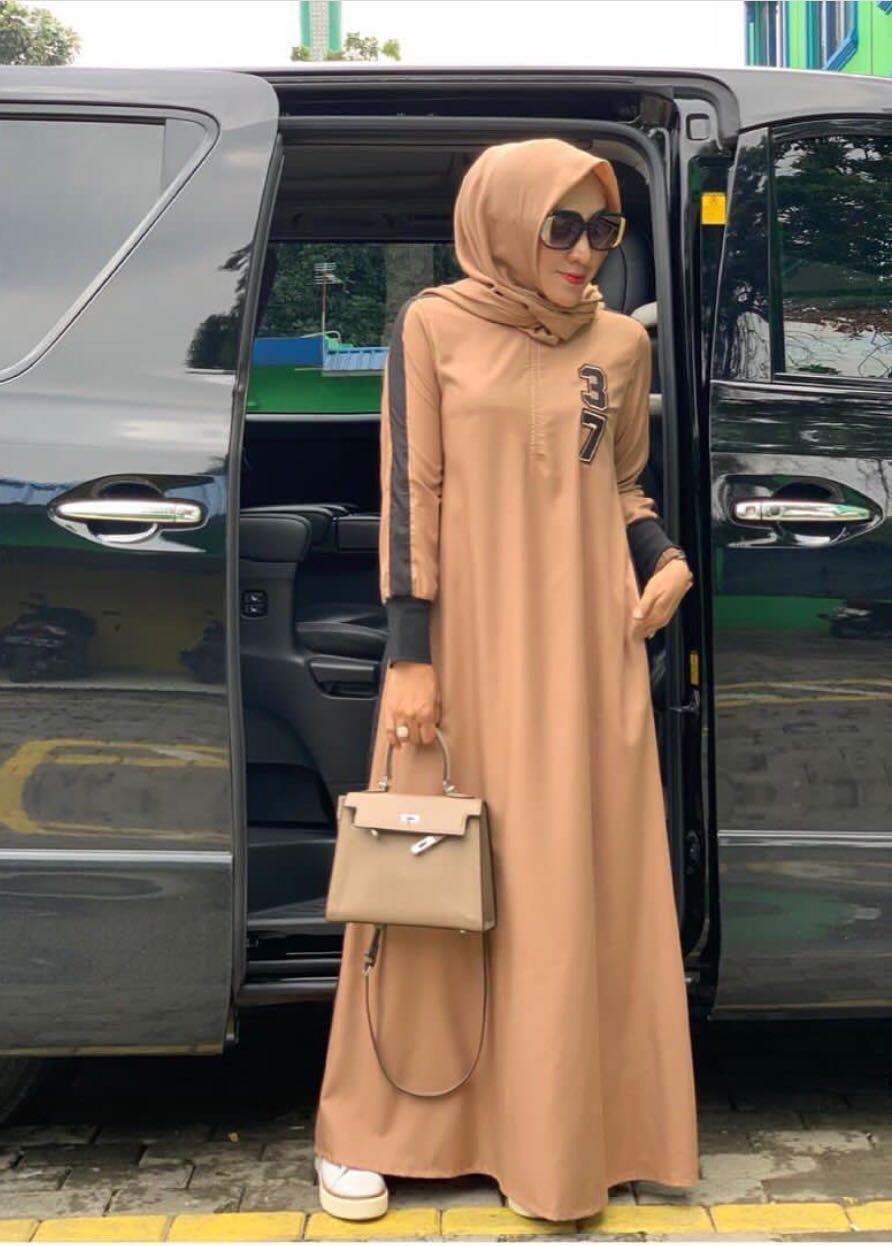 Gamis Branded Trendy Fashion Modern Gamis Casual 37 Merk Nins Fesyen Wanita Muslim Fashion Gaun Di Carousell