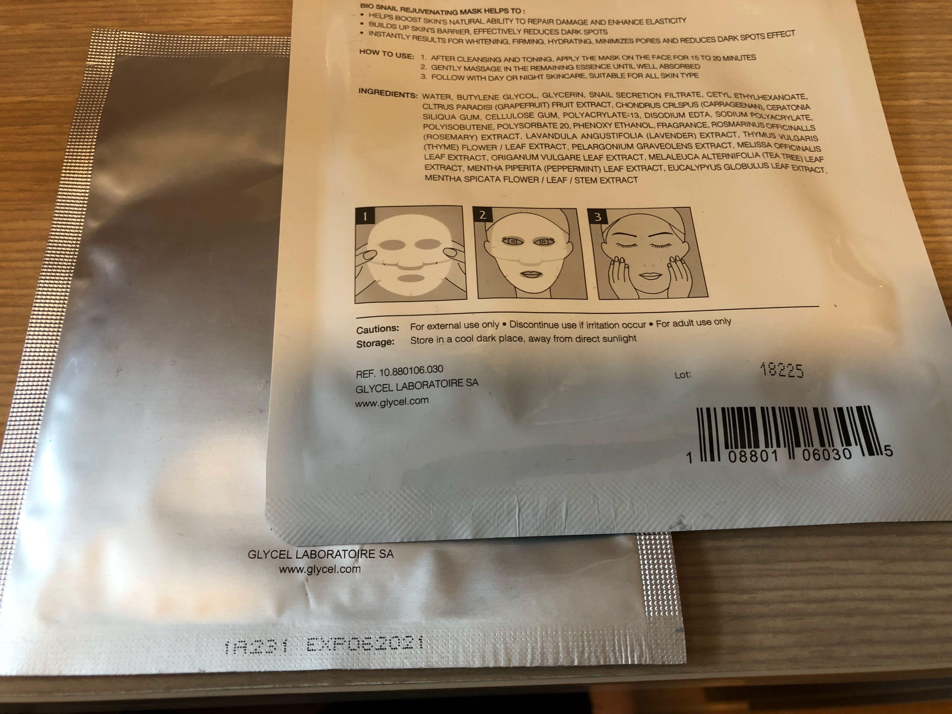 Glycel 貨裝組合,全圖$380 enhance toner serum Hydro Firm Skin Perfection Cream eye mask