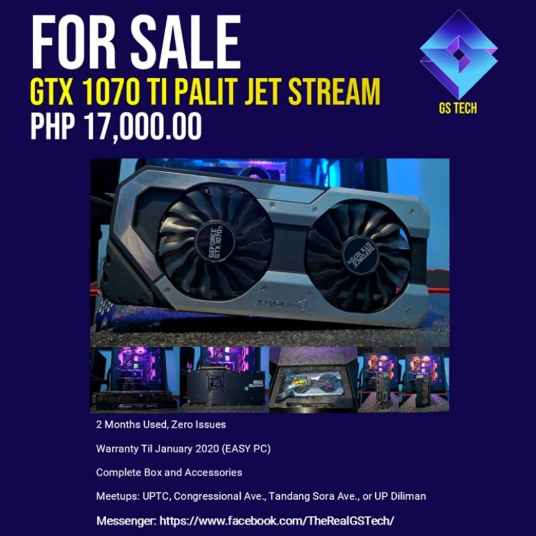 GTX 1070 Ti Palit Jet Stream on Carousell