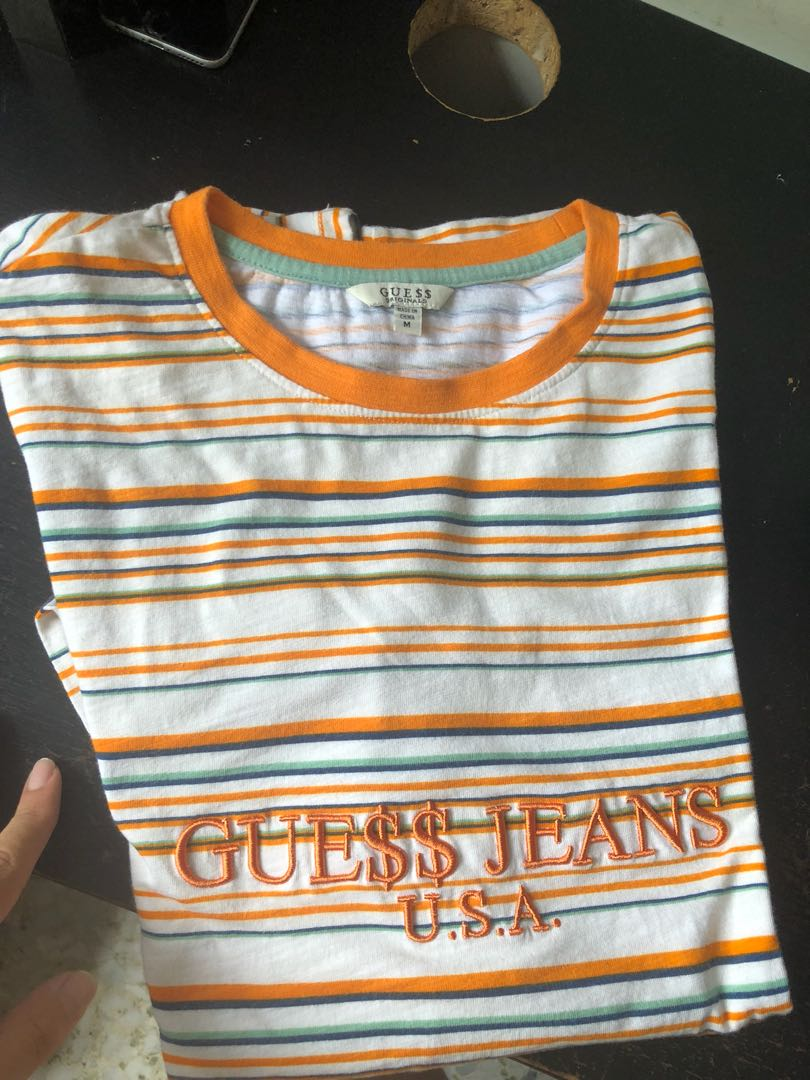 08b09ebb05c7 Guess x a$ap rocky Long sleeve, Men's Fashion, Clothes, Tops on Carousell