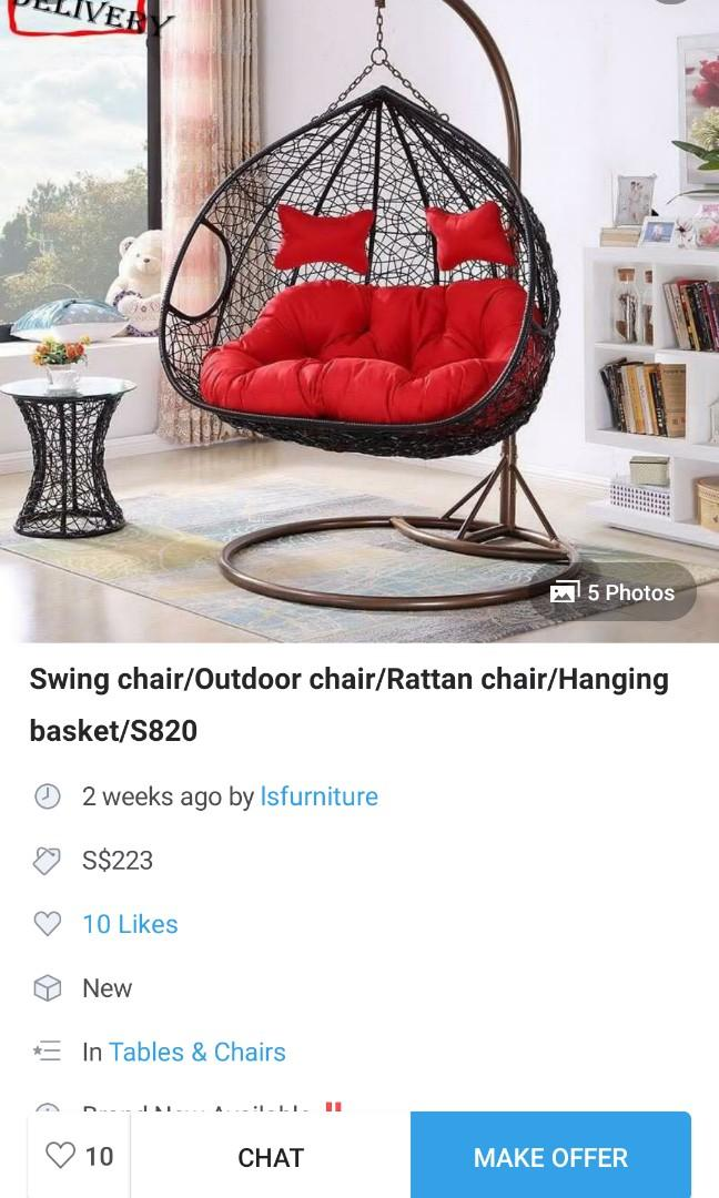 Hanging chair for 2 seater for sale