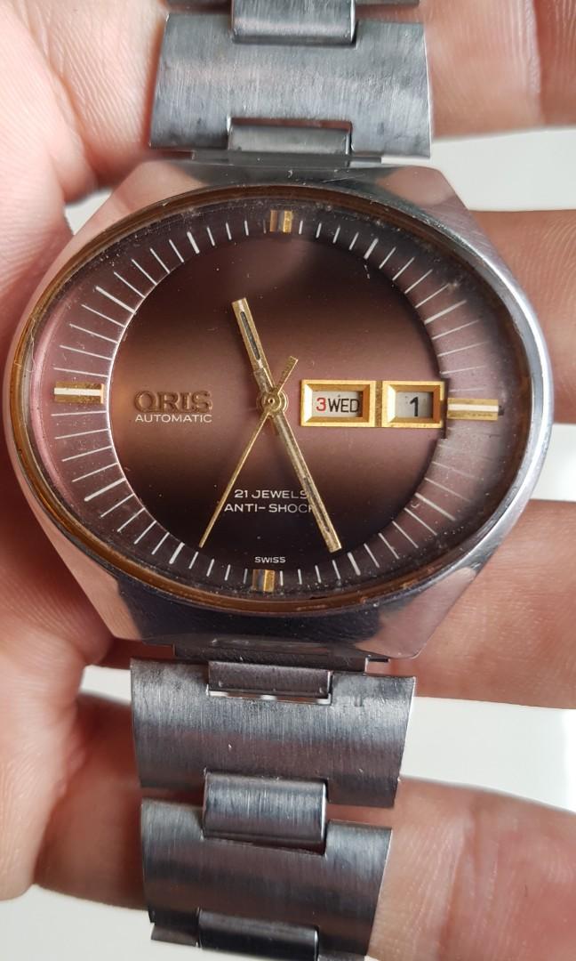 Jam tangan oris vintage jadul rare