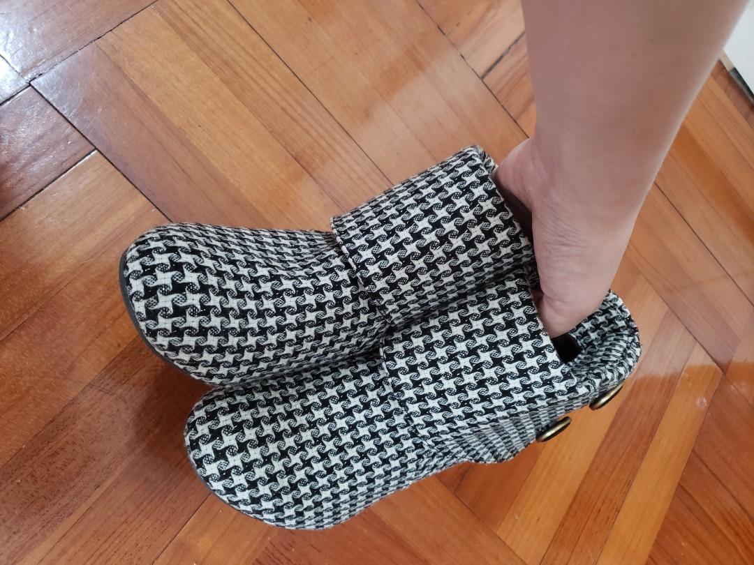 Jelly beans鞋 短靴高踭