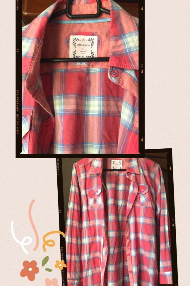 Kemeja flannel connection