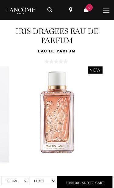 Lancome fragrance parfum perfume iris dragees l'absolue jo malone genifique