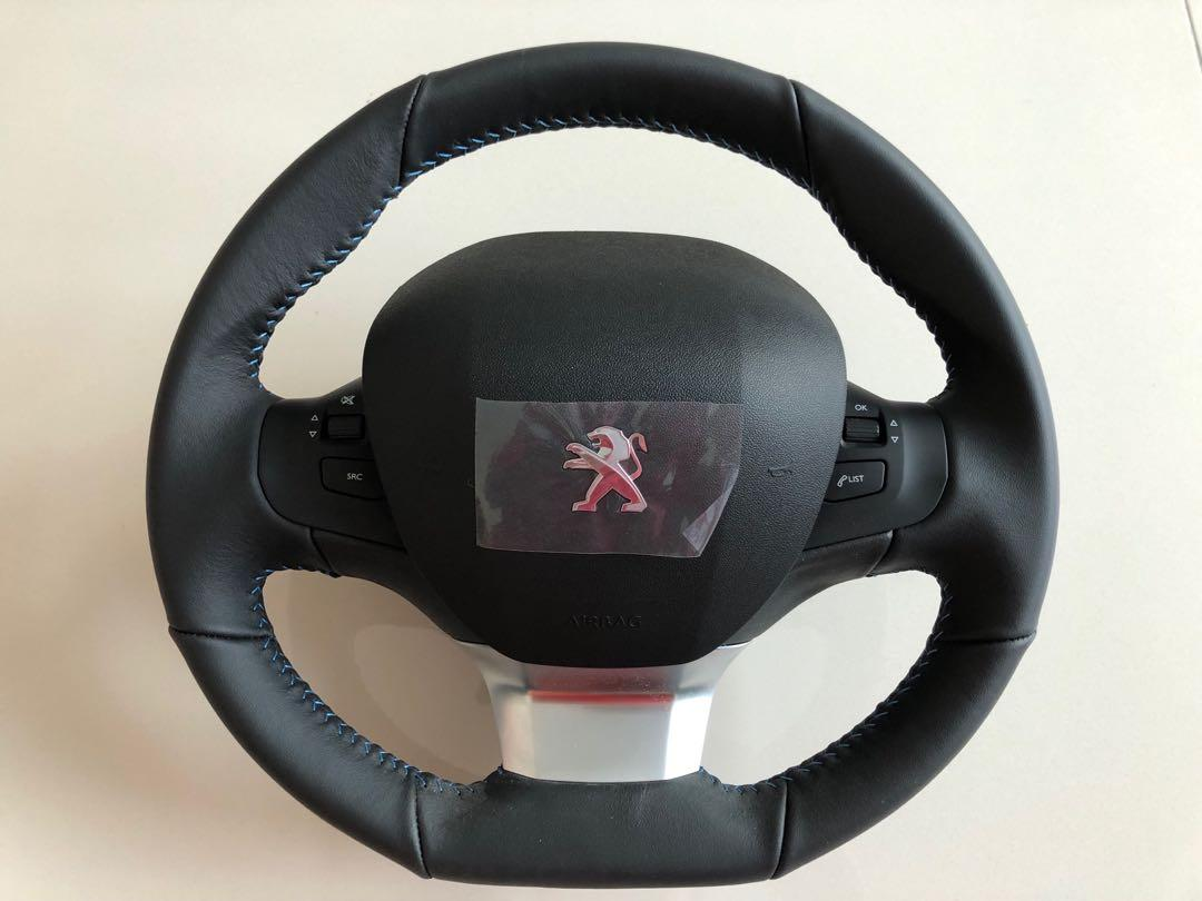 Leather steering for Peugeot 206/207/208/308