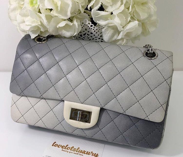 2f23a4a30fb9 Like new Authentic Chanel 2.55 reissue flap bag 225 - grey ombré ...