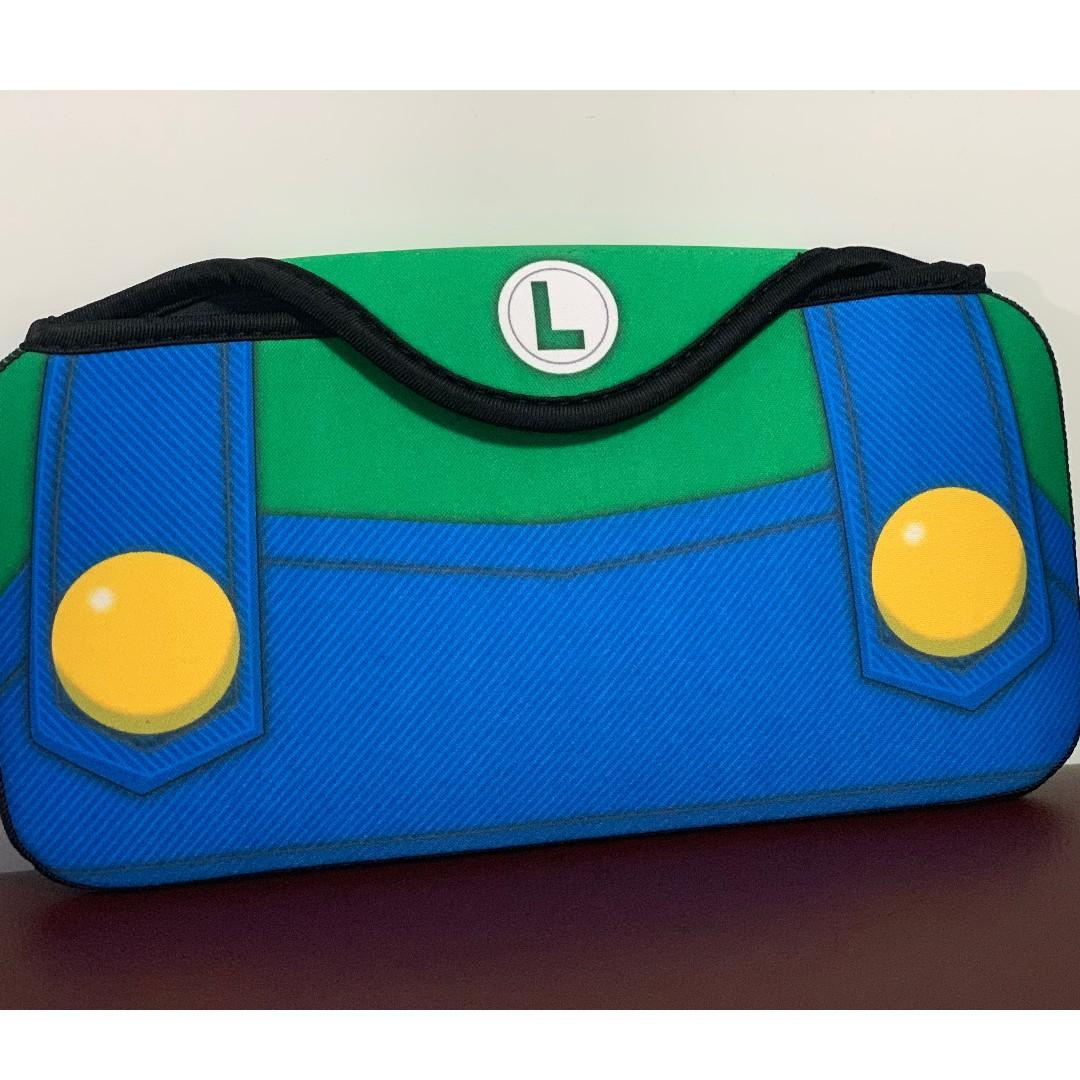 Luigi Switch 保護套 保護殼 路易 Nintendo NDS 任天堂 手提袋 收納袋 收納包 保護包 機袋 機套 機殼 加厚 海棉 防震 遊戲 手制 protector case cover 熱賣爆款 實物拍攝#mtrcentral #mtrtw #mtrmk #mtrtst #mtrssp