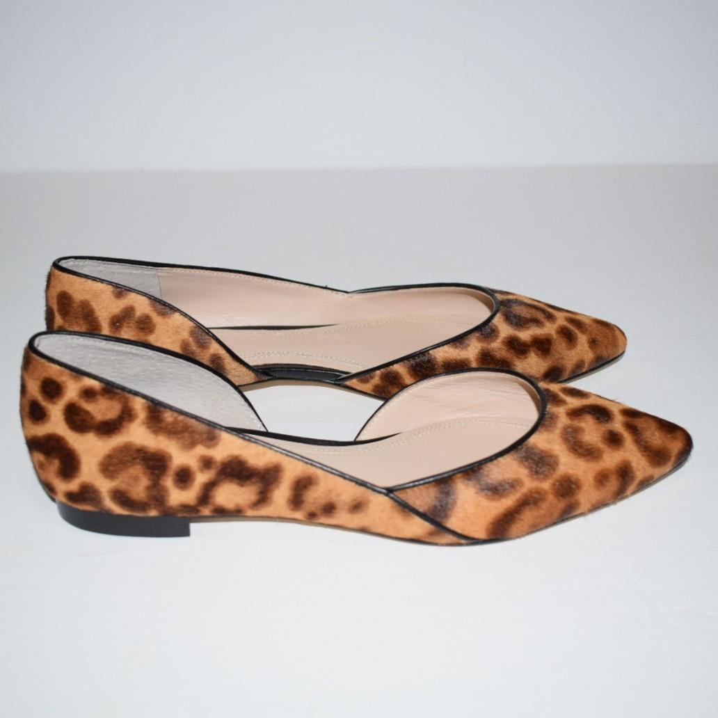 Marc Fisher Sunny Genuine Calf Hair Flat Leopard Print Size 6.5