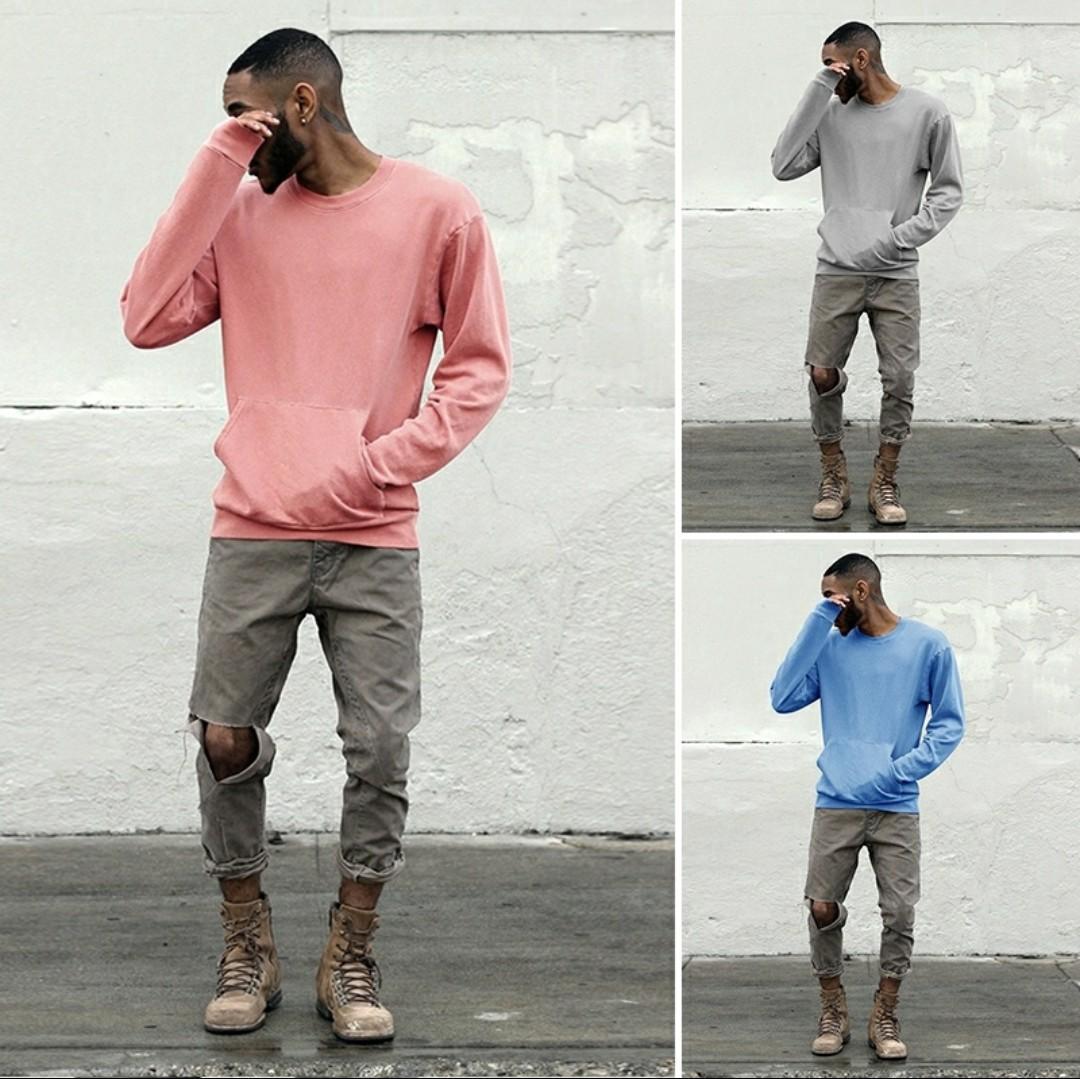 Mens Sweatshirt Coat Crewneck Jacket Sweater Pullover