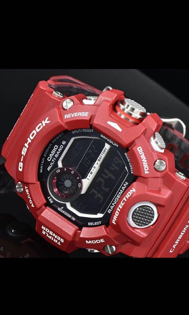 New Authentic sealed Casio G-Shock Men in Rescue Red Rangeman GW-9400RD-4 Band and Bezel Set limited edition