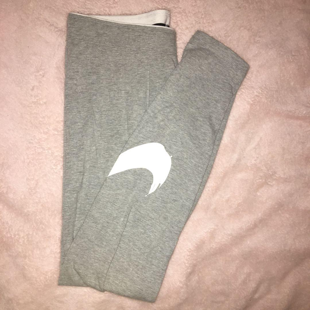 Nike Grey Swoosh Tights