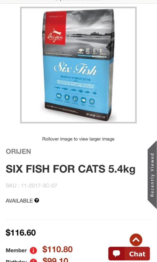 ORIJEN SIX FISH FOR CATS 5.4KG | CAT FOOD