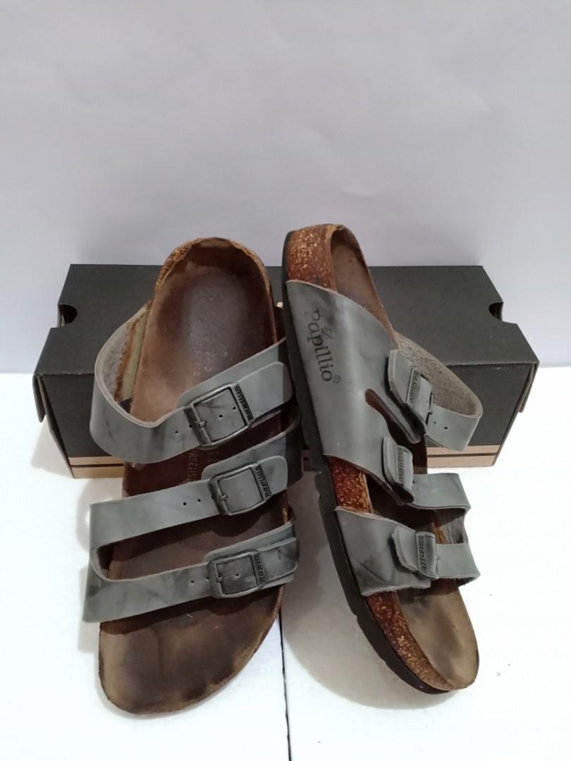 Papillio by Birkenstock Florida Grey Washed Sandals Original