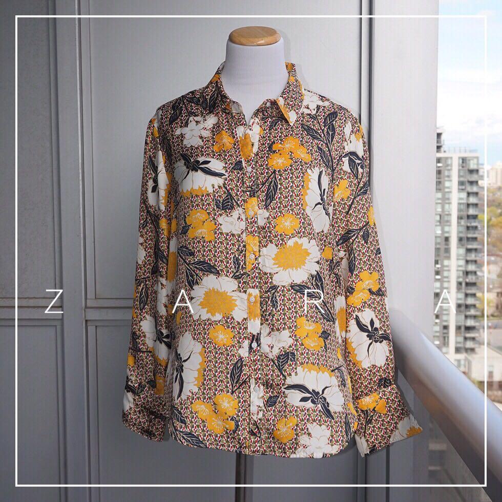*Perfect Condition* Zara Floral Shirt Women Size L