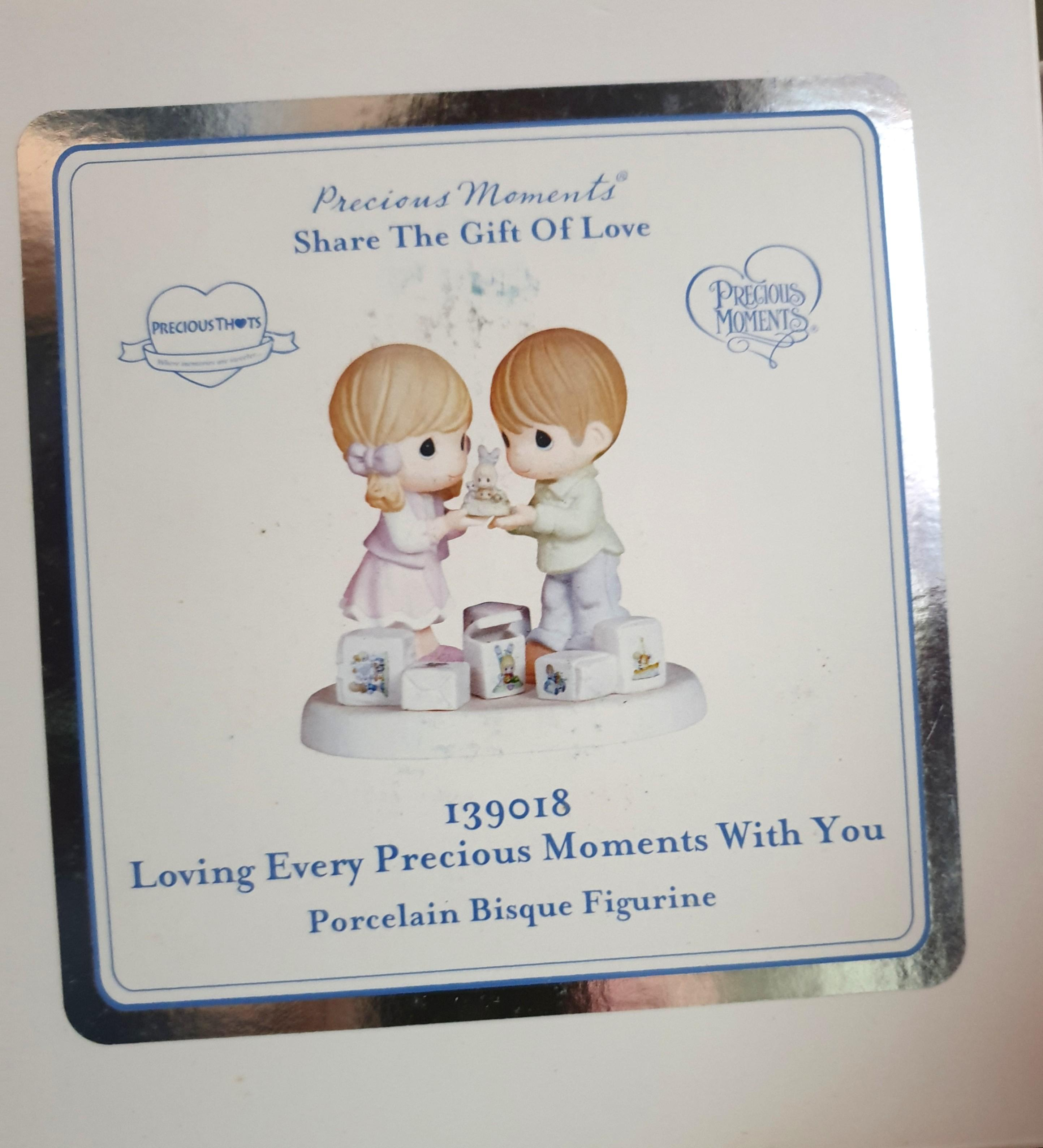 "Precious Moments Figurine ""Loving Every Precious Moment With You"""