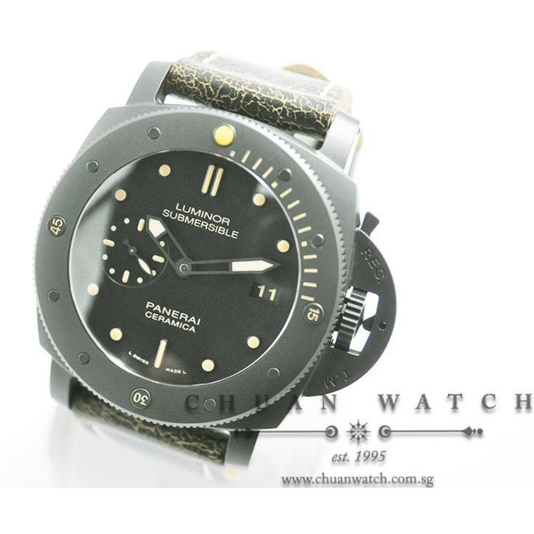 Pre-Owned Panerai Luminor Submersible 1950 3-Days Ceramica 47mm Pam 508 P  (Limited Edition of 1000 Pieces Only)