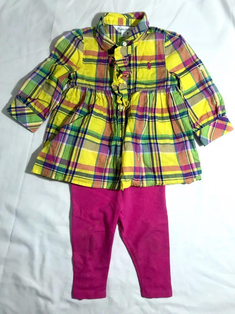 Ralph lauren girls shirt + trouser