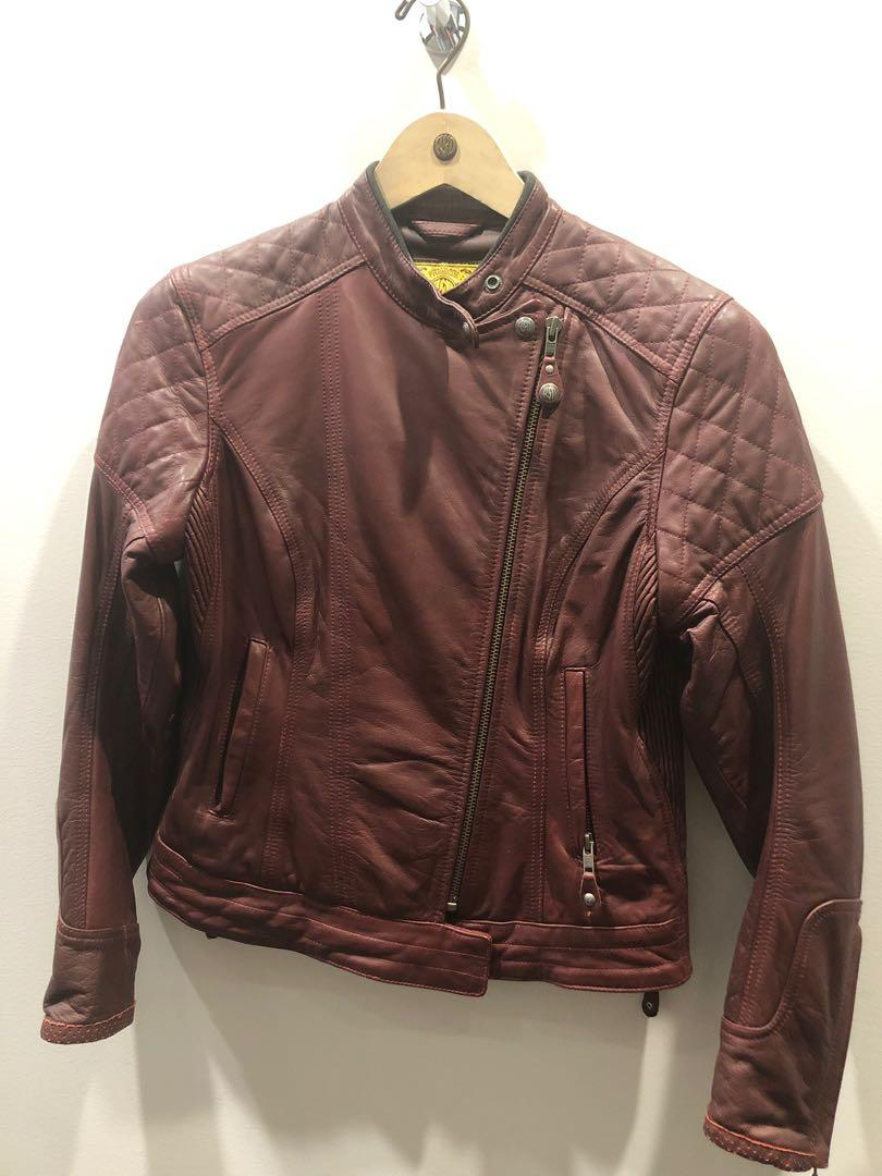 Roland Sands Womens Oxblood Leather Motorbike Jacket