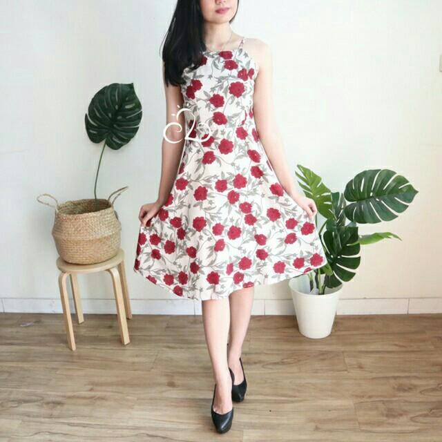 rose flare dress