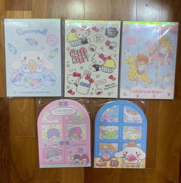 2019 Sanrio Little Twin Stars Memo pad 144 sheet Paper 8 design with stickers